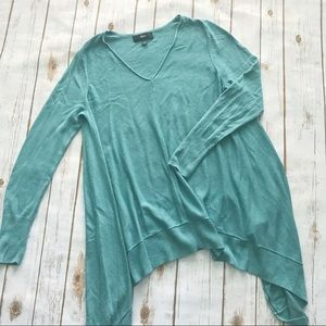 Mission asymmetrical tunic top teal